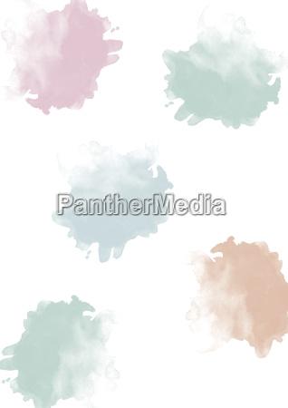 aquarellkleckse pastell