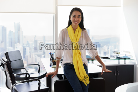 portrait of young woman ceo smiling