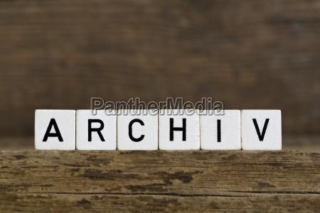das deutsche wort archiv in wuerfel