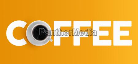 kaffeetasse konzept design draufsicht banner