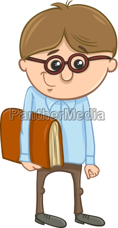 school boy cartoon illustration