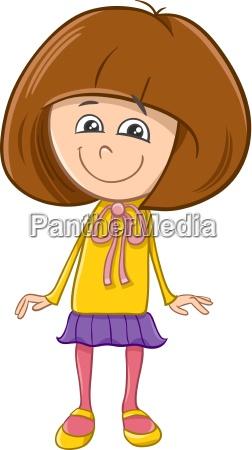 girl character cartoon illustration
