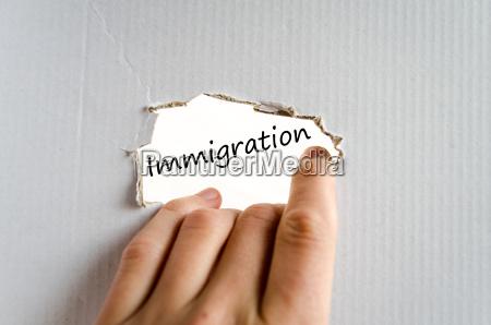 textkonzept fuer die einwanderung