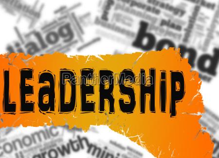 word cloud with leadership word on
