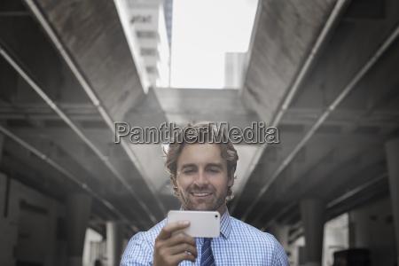 a man on a city street