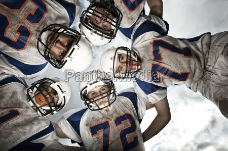 a group of football players young