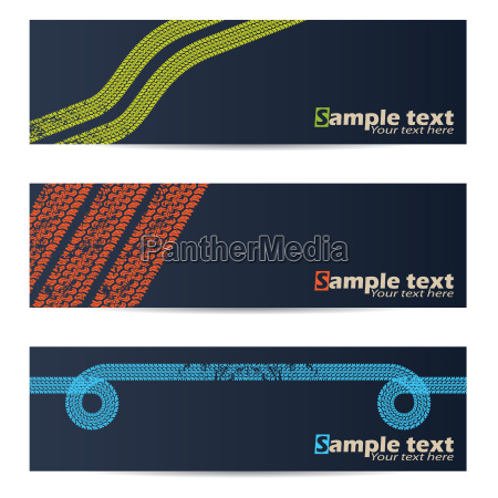 cool tire track design banners