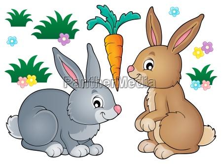 kaninchen thema bild 1