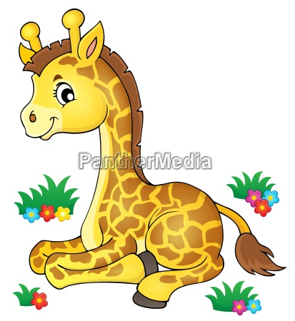 young giraffe theme image 1