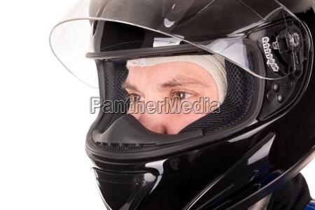 rennfahrer kopf