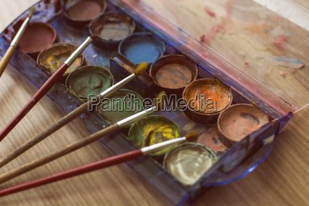pinsel und aquarell