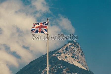 die flagge des vereinigten koenigreichs und
