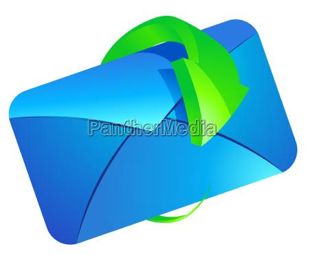 e mail mit pfeil vektor illustration