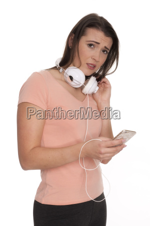 young woman with cell phone and