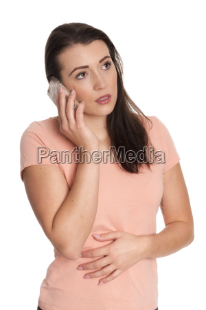 young woman phoning with a mobile