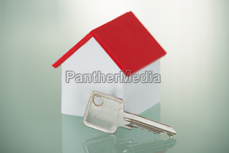 house model with key