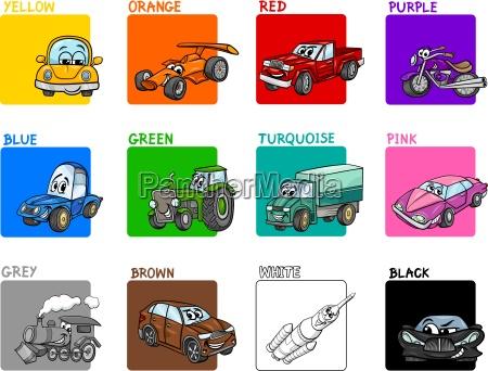 main colors cartoon collection