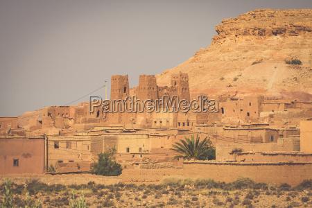 das dorf in ouarzazate marokko afrika