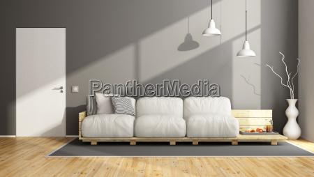 elegantes graues wohnzimmer