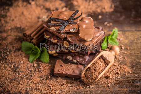 dunkle nuss schokolade