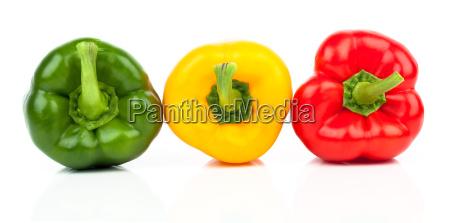 peppersvarious shades of redyellowand green