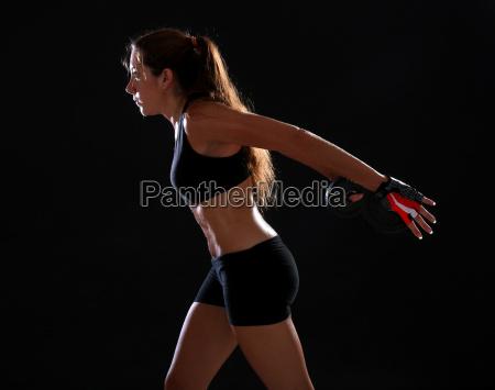 frau gesundheit sport lebensstil schwarze schwarz