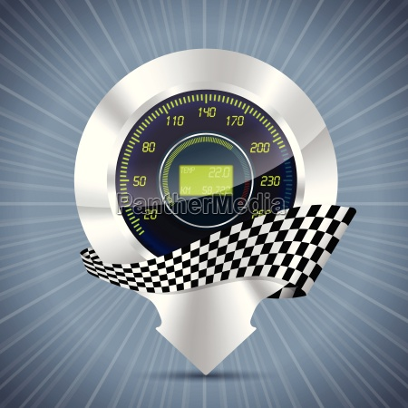 cool pointer with speedometer and race