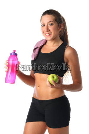 healthy, lifestyle., fitness, woman, drinking, water - 16142409