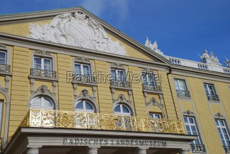 karlsruhe badisches landesmuseum schloss baden wuerttemberg