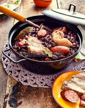 traditional brazilian stew with beans and