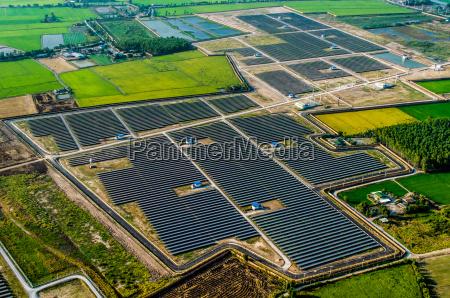 solarpark sonnenkollektoren aus der luft