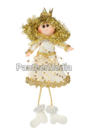 christmas angel figurine on a white