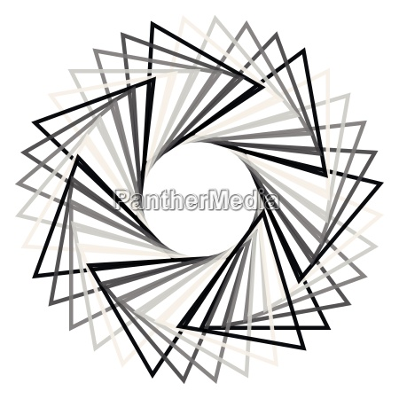 abstraktes spirograph konzentrisches kreis muster auf