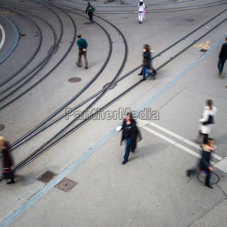 staedtischen verkehrskonzept stadtstrasse mit einer