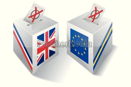 wahlbox mit europa und grossbritannien
