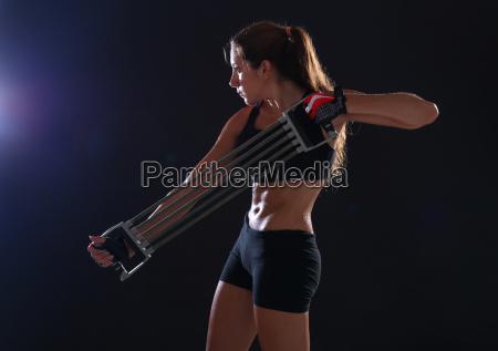 frau gesundheit sport turnstunde fitness
