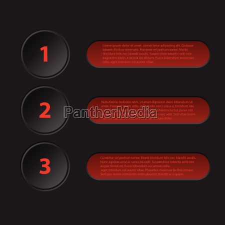 simplistic 3d infographic in black red
