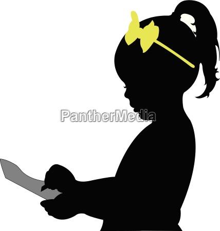 illustration silhouette silhoutte schattenbild zicklein einnahme
