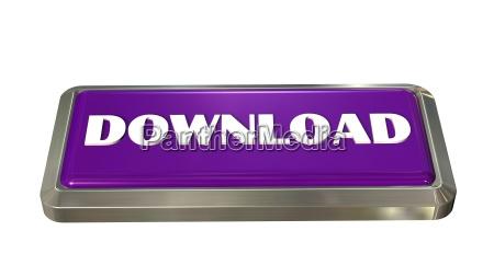 download knopf isoliert auf weiss