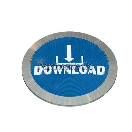 kostenfreier download knopf isoliert auf
