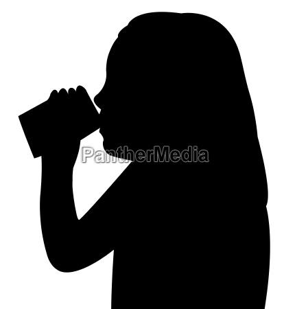 trinken trinkend trinkt getraenk illustration silhouette