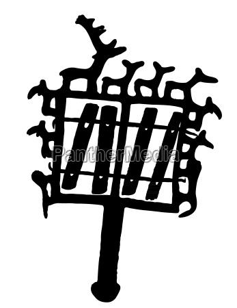 denkmal monument illustration grabmal silhouette silhoutte