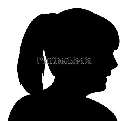 eine dame kopf silhouette vektor