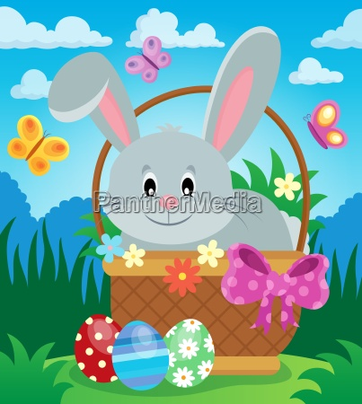 easter basket with bunny theme 3