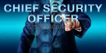 executive pushing chief security officer