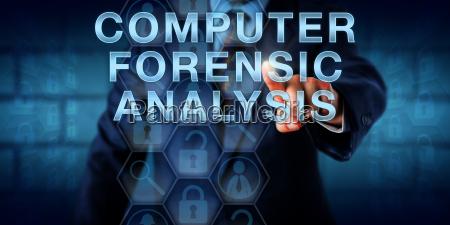 examiner touching computer forensic analysis