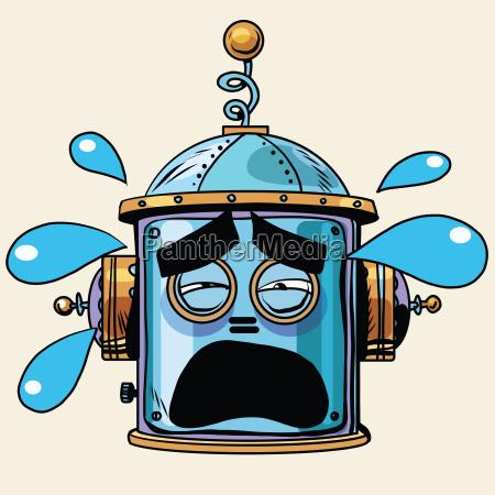 emoticon reisst emoji roboterkopf smiley emotion