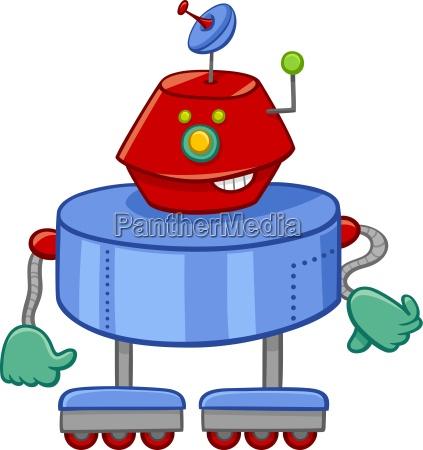 lustige roboter cartooncharakter