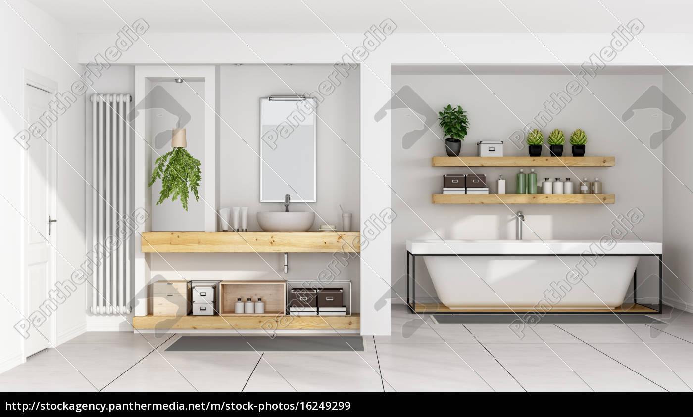 modernes weißes badezimmer   Stockfoto   20   Bildagentur ...
