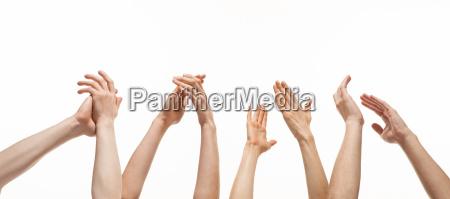 gruppe haende applaudieren